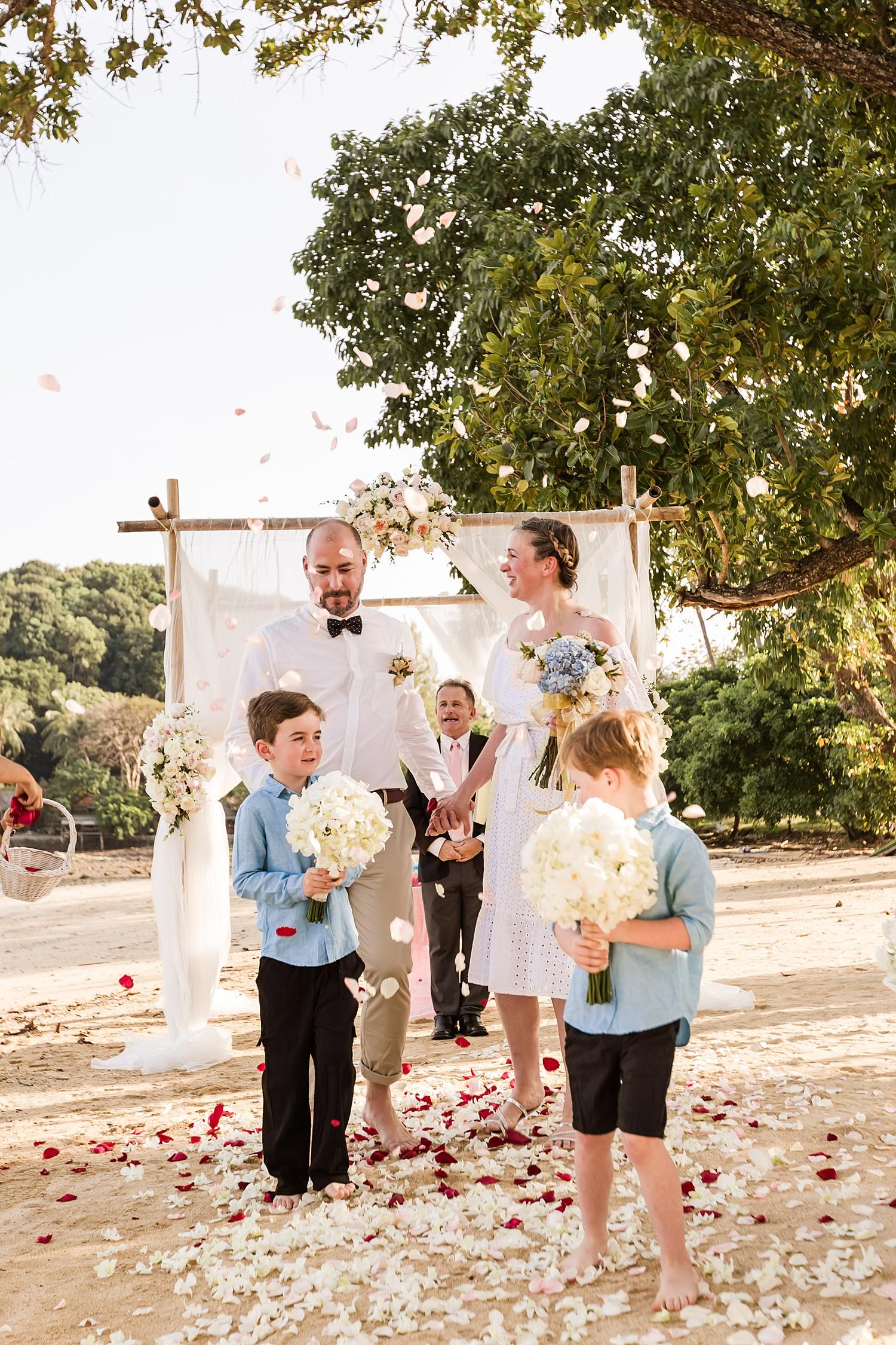 Khao Yao Noi Beach Wedding Ceremony