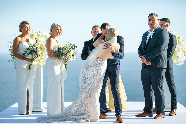 Wedding Ceremony complete at Villa Aye